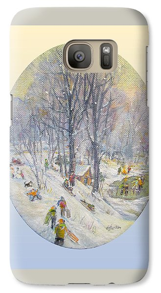 Galaxy Case featuring the painting Snow Day by Donna Tucker