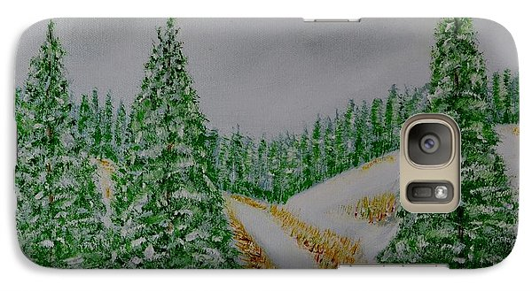 Galaxy Case featuring the painting Snow Day by Melvin Turner