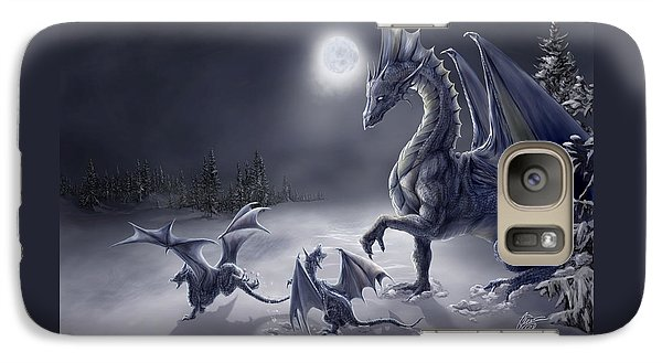 Dragon Galaxy S7 Case - Snow Day by Rob Carlos