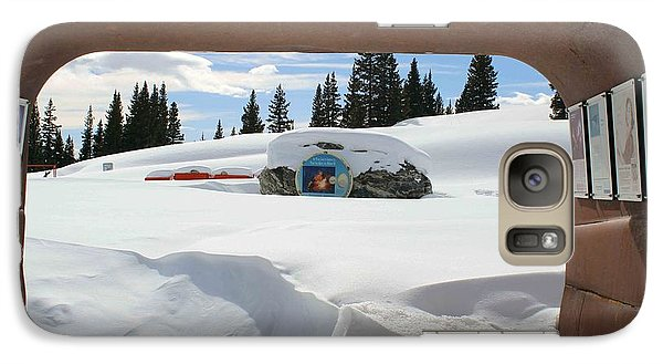 Galaxy Case featuring the photograph Snow Daze by Fiona Kennard