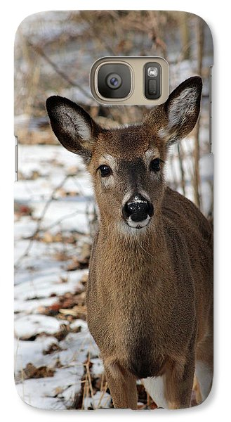 Galaxy Case featuring the photograph Snow Deer by Lorna Rogers Photography