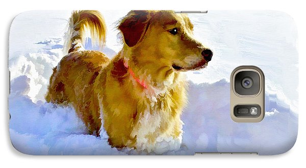 Galaxy Case featuring the photograph Snow Dog by Bradley Clay