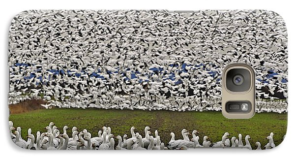 Galaxy Case featuring the photograph Snow Geese By The Thousands by Valerie Garner