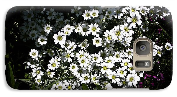 Galaxy Case featuring the photograph Snow In Summer by Joann Copeland-Paul