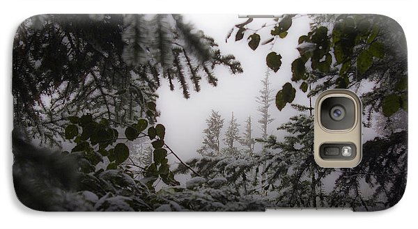 Galaxy Case featuring the photograph Snow In Trees At Narada Falls by Greg Reed