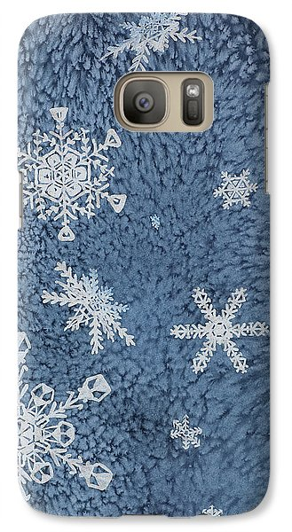 Galaxy Case featuring the painting Snow Jewels by Margaret Bobb