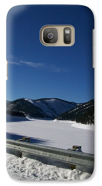 Galaxy Case featuring the photograph Snow Lake by Jewel Hengen