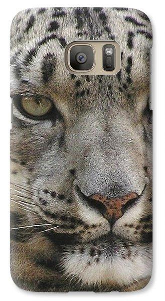 Galaxy Case featuring the photograph Snow Leopard by Diane Alexander