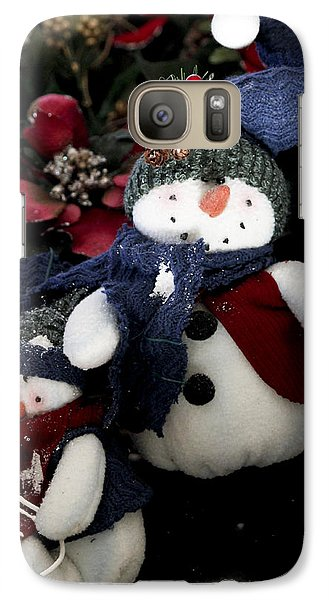Galaxy Case featuring the photograph Snow Man by Ivete Basso Photography