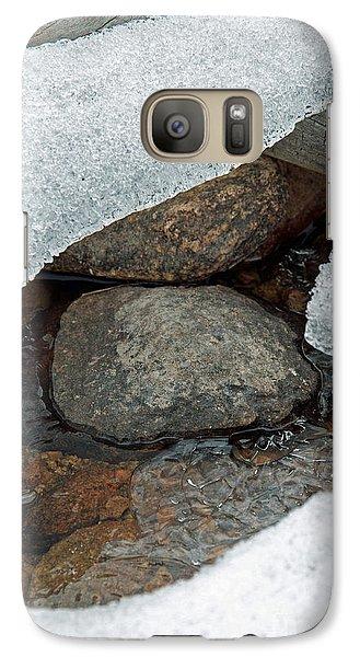 Galaxy Case featuring the photograph Snow Melt 1 by Minnie Lippiatt
