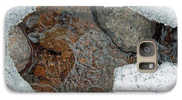 Galaxy Case featuring the photograph Snow Melt 3 by Minnie Lippiatt