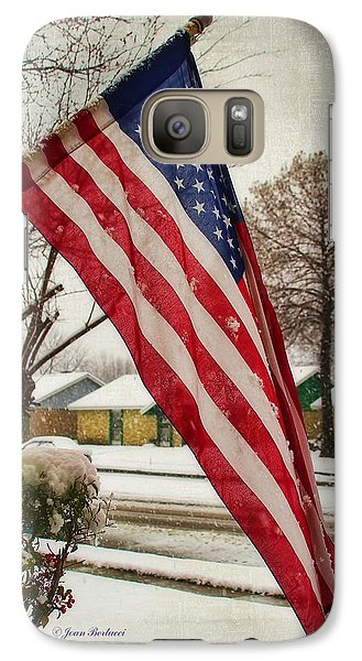 Galaxy Case featuring the photograph Snow On The Flag by Joan Bertucci
