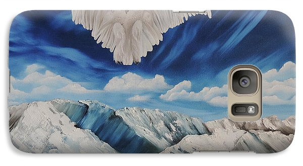 Galaxy Case featuring the painting Snow Owl by Dianna Lewis