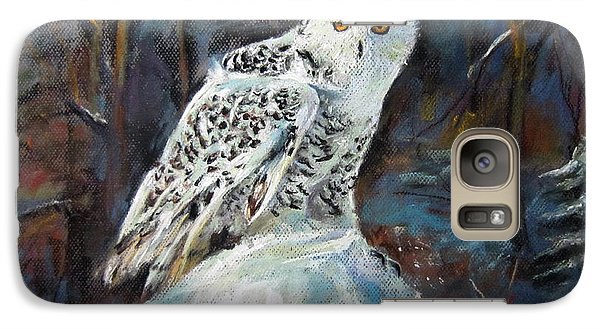 Galaxy Case featuring the painting Snow Owl by Jieming Wang