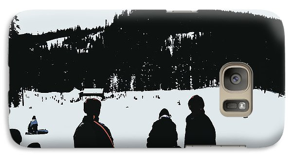 Galaxy Case featuring the photograph Snow Park Fun  by Mindy Bench