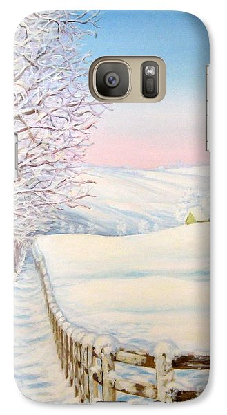 Galaxy Case featuring the painting Snow Path by Inese Poga