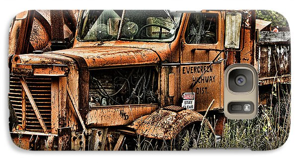 Galaxy Case featuring the photograph Snow Plow by Ron Roberts