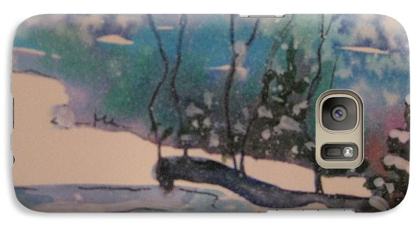 Galaxy Case featuring the painting Snow Reflections by Gretchen Allen