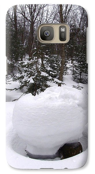 Galaxy Case featuring the photograph Snow Sculpture - Algonquin - Canada by Phil Banks