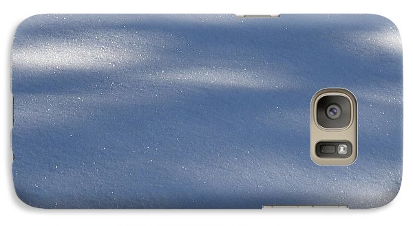 Galaxy Case featuring the photograph Snow Shadows by Rachel Lowry