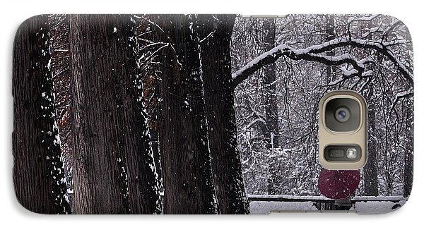 Galaxy Case featuring the photograph Snow by Simona Ghidini