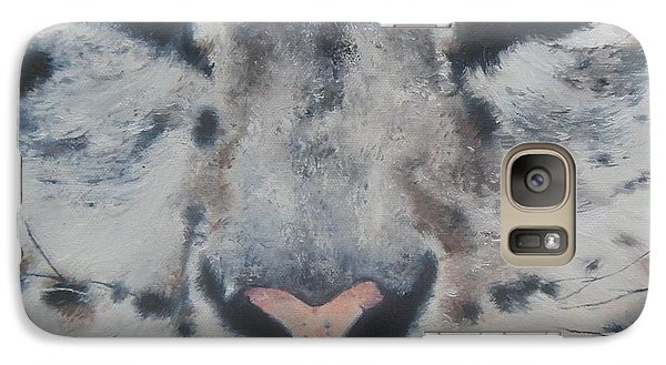 Galaxy Case featuring the painting Snow Tiger by Cherise Foster