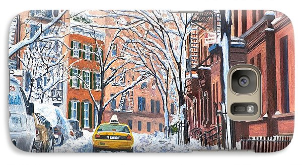 Snow West Village New York City Galaxy S7 Case by Anthony Butera