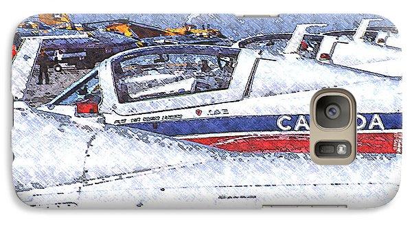 Galaxy Case featuring the digital art Snowbirds by Richard Farrington