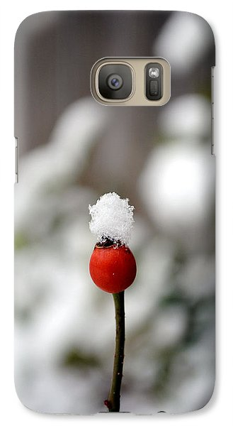 Galaxy Case featuring the photograph Snowcap by Kelly Nowak