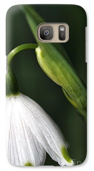 Galaxy Case featuring the photograph Snowdrop by Joy Watson