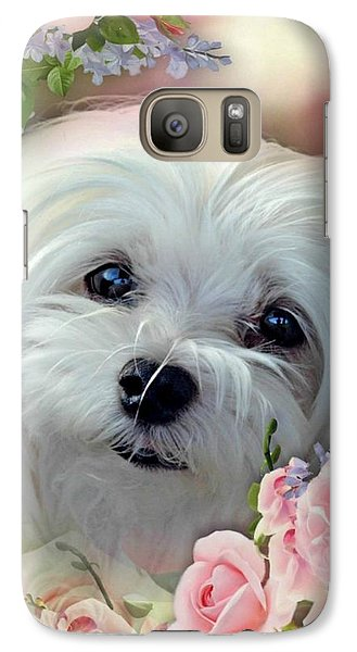 Galaxy Case featuring the photograph Snowdrop The Maltese by Morag Bates