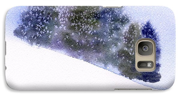 Galaxy Case featuring the painting Snowfall by Anne Duke