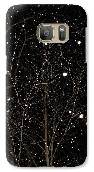 Galaxy Case featuring the photograph Snowfall by Carlee Ojeda