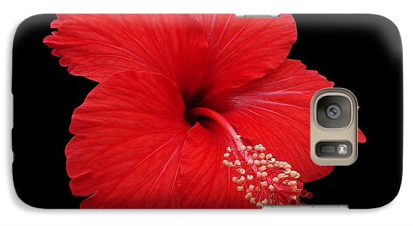 Galaxy Case featuring the photograph Snowflake Hibiscus by Judy Whitton