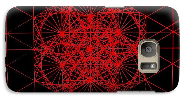 Galaxy Case featuring the drawing Snowflake Shape Comes From Frequency And Mass by Jason Padgett