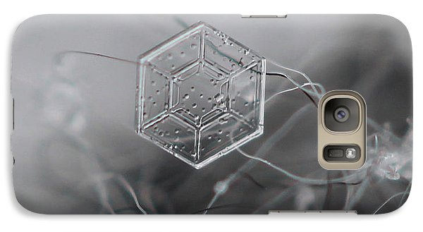 Galaxy Case featuring the photograph Snowflake Symmetry by Stacey Zimmerman