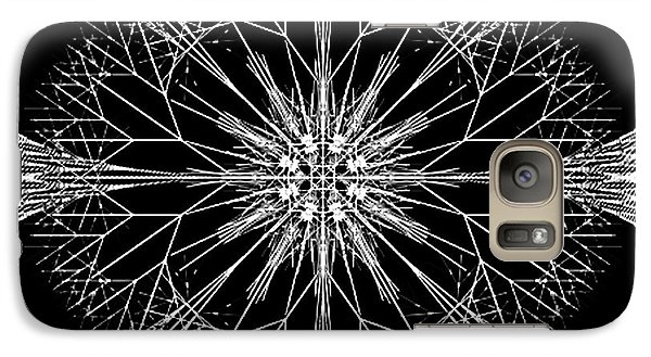 Galaxy Case featuring the digital art Snowflakes Are Dancing by Rhonda Strickland