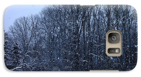 Galaxy Case featuring the photograph Snowing by Barbara Giordano
