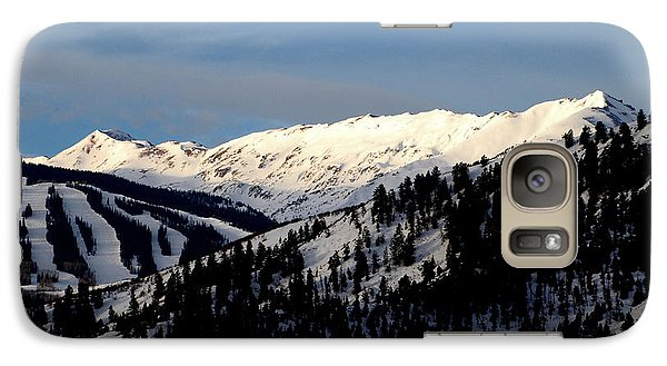 Galaxy Case featuring the photograph Snowmass Mountain - Wild Cat Ranch by Allen Carroll