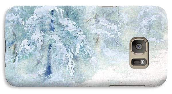 Galaxy Case featuring the painting Snowstorm by Joy Nichols
