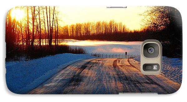 Galaxy Case featuring the photograph Snowy Anchorage Sunset by Cynthia Lagoudakis