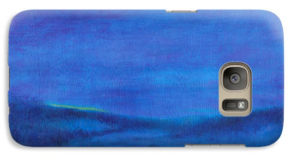 Galaxy Case featuring the painting Snowy Blue Nocturne by Judith Cheng