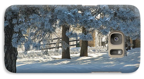 Galaxy Case featuring the photograph Snowy Blue Pines by Jessie Parker