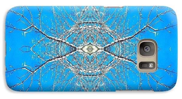 Galaxy Case featuring the photograph Snowy Branches In The Sky Abstract Art Photo by Marianne Dow