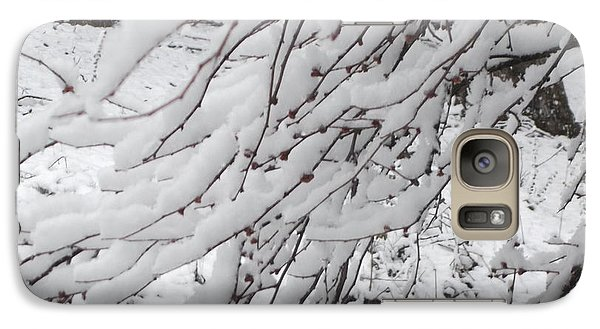 Galaxy Case featuring the painting Snowy Branches by Donna Dixon