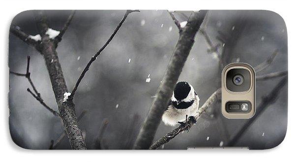 Snowy Chickadee Galaxy S7 Case