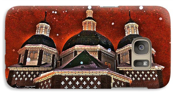 Galaxy Case featuring the photograph Snowy Christmas Night by Sarah Mullin