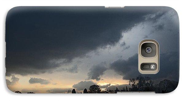 Galaxy Case featuring the digital art Snowy Dawn by David Davies