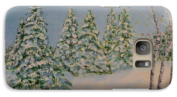 Galaxy Case featuring the painting Snowy Day by Melvin Turner