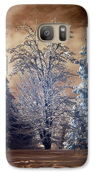 Galaxy Case featuring the photograph Snowy Day by Rebecca Parker